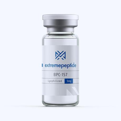 BPC-157 in a labeled transparent vial